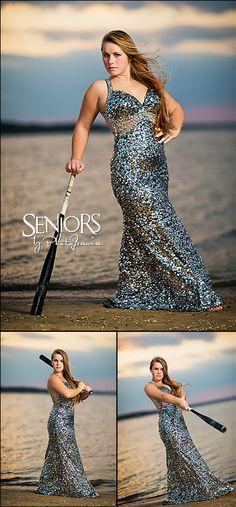 Batting Practice: Softball senior picture idea for girl at the beach #softballseniorpictureideas #softballseniorpictures #seniorsbyphotojeania