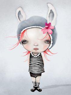 Girl Art, Girls have more fun, illustration for Girls