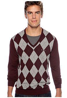 Ben Sherman® Haddington V-Neck Argyle Sweater