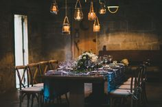Hanging lanterns for a nautical inspired reception