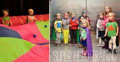 Super Hero Training party