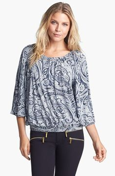 MICHAEL Michael Kors Paisley Peasant Top available at #Nordstrom