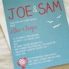 Seaside Theme Wedding Invitation – The Knot