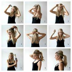 messy & full ponytail