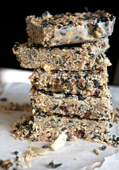 Healthy all natural recipe for winter bird feed. Healthy all natural recipe for winter bird feed. Bird Suet, Diy Bird Feeder, Suet For Birds, Squirrel Feeder, Bird Nests, Suet Cake Recipe, Feeding Birds In Winter, Suet Cakes, How To Attract Birds