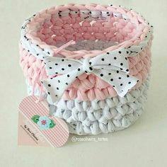 Meu cestinho preferido ❤ #crochet #trapillos #basket #fiosdemalha