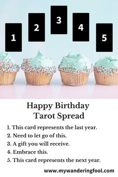 Happy Birthday Tarot Spread - - Great for Planning and Goal Setting!