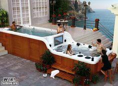 Fabulous double hot tub!