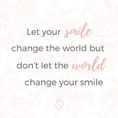 We often forget the power behind a smile!