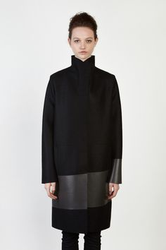 {No Editions / 01 clothing / 07 outerwear / 04 coat} High Collar Coat NOW490