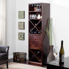 Lucca Home Storage with Drawers - Espresso - Wine Storage at eWine Racks