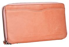 Leather Travel Organizer, Coral on OneKingsLane.com