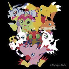Hey Digimon http://www.redbubble.com/people/xjacky2312x/works/11275340-hey-digimon?c=251631-anime