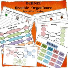 Life Sciences Graphic Organizer Bundle by Innovative Teacher. Graphic Organizers have done wonders in my classroom especially with science concepts. Here are 6 of my life science orgainzers that will help your students gain a better understanding of these concepts: Classifing Animals Herbivores, Carnivores, or Omnivores Producers, Consumers, and Decomposers Vertebrates and Invertebrates Adaptation Kingdoms