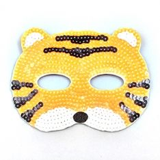 Maske Pailletten Tiger