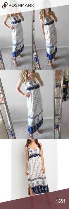 Christmas Sale! White Printed Midi Dress White printed chiffon dress. Lined. - New with tags - I'm wearing size S on the photo   --------------------- Let's keep in touch ❤️ Instagram: @lanier_boutique Facebook : Lanier Boutique  Twitter: @lanierboutique Snapchat: lanierboutique Dresses Midi