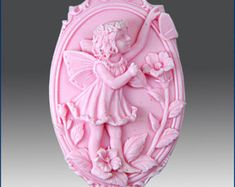 2D Silicone Soap Mold - fairy 4 Pansey Fairy of Thoughtfulness- Free Shipping- buy from original maker and designer
