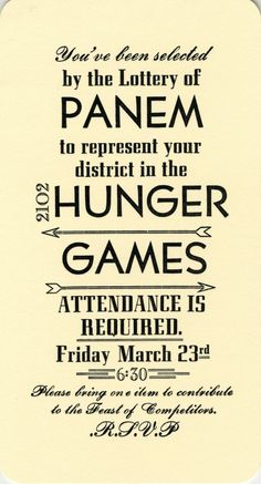 happy hunger games invite