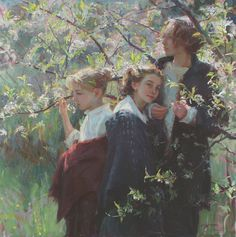 Daniel F. Gerhartz (1965-)  May Morning  Oil on canvas
