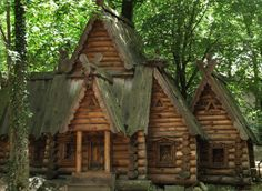"""There is a distinctive open-air museum – Glade of Fairy-Tales (""""Polyana Skazok"""") in Yalta. It was founded by folk artists Pavel Pavlovich Bezrukov in 1960 . There is a wonderful collection of wooden sculptures on fairy-tale themes."""