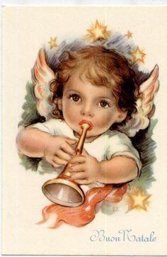 Рождественский детская кукла мишка полный комплект из 6 открыток штук около 1950 Италия