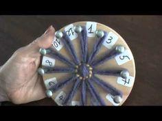Flores en telar de reloj (redondo): técnica básica