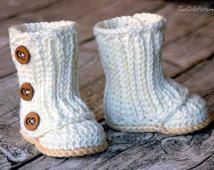 Crochet Pattern #112 Baby Wrap Boot - Instant Download - PDF