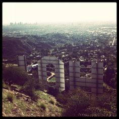 behind the hollywood sign.