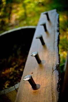 Railroad Spike Coat Rack by WallaceForge on Etsy, $75.00