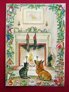 Christmas, Corgi and the Cat. Tasha Tudor
