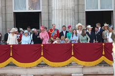 The young Royals, towards the centre of the balcony, seem to preoccupied with something on the floor as their family gathered on the balcony   Read more: http://www.dailymail.co.uk/news/article-4613854/Charlotte-George-Kate-royal-balcony-Queen-s-birthday.html#ixzz4kJckcnud  Follow us: @MailOnline on Twitter | DailyMail on Facebook