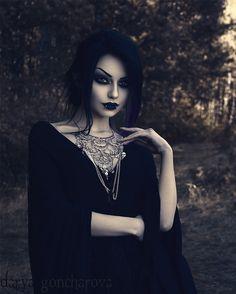 Model/MUA/Photo: @darya_goncharova_  Jewelry: @wonderlandmc98  Dress: @DarkinCloset   Welcome to #GothicandAmazing