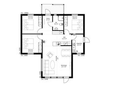 Borohus första Fjärden, Planlösning Floor Plan Drawing, Cabins In The Woods, Tiny House, House Plans, Floor Plans, Flooring, Cottage Image, How To Plan, Homes