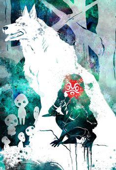 Studio Ghibli Princess Mononoke ft. San of by PenelopeLovePrints