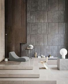 Modern Living Space SpacesLiving RoomWall TexturesInterior