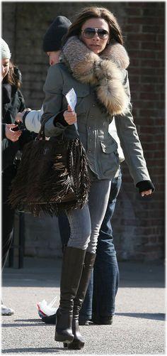 Victoria Beckham Prada Fringe Handbag