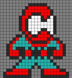 Spiderman Perler Bead Pattern | Bead Sprites | Characters Fuse Bead Patterns