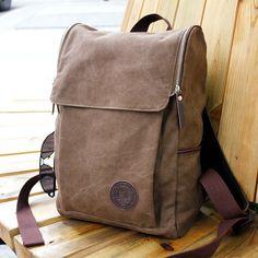 0f10eaeae156 Men s Vintage Canvas backpack Rucksack Shoulder travel Camping Bag Satchel  1013