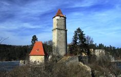 Zvikov Castle, Czech Republic: Zvikov Castle is thought to be haunted by a… Haunted Places, Haunted Castles, Germany Castles, Supernatural Beings, Fairytale Castle, Ghost Stories, Throughout The World, Scary, Creepy