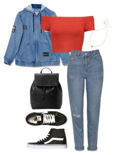 """""""dayout"""" by joannachavez8 ❤ liked on Polyvore featuring Vans, Alice + Olivia, Topshop, MANGO and Kate Spade"""