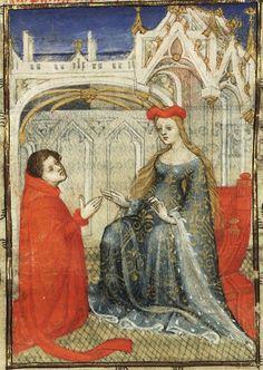 15th century (first quarter?) France?  Paris, Bibliothèque nationale de France  Français 606: L´Epistre Othea by Christine de Pisan  fol. 12v http://gallica.bnf.fr/ark:/12148/btv1b60007552/f32.item