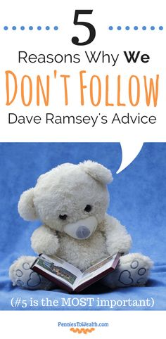 OMG, they make sooo many good points in this article! Dave Ramsey's advice is perfect for people just starting out but it doesn't leave any room for growth. This was such a great read. Check it out and see if you share any of their reasons! #PersonalFinance #DaveRamsey #Money @PenniesToWealth