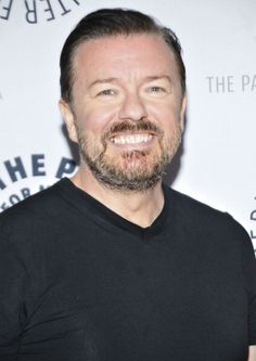Ricky Gervais at the Paley Center For Media Presents 'Gervais On Derek' Second-Season Preview And Conversation. Grooming by Cheri Keating.