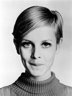 Twiggy. I used to paint on the lashes underneath. We were so cool.