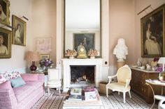 12 Styling Secrets To Rock Your Fireplace Mantel Decor - laurel home | India Hicks beauty! Wonderful colors!