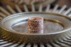 Burned Leather Ring Size 9 by NativeAlignment on Etsy