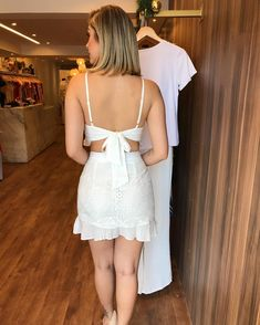 Image may contain: one or more people and people standing White Outfits, Summer Outfits, Summer Dresses, Casual Dresses, Short Dresses, Glam Girl, Sexy Hot Girls, Cold Shoulder Dress, White Dress
