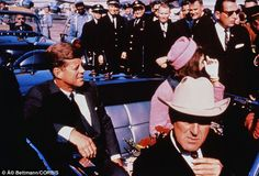 Entourage: Kennedy and his wife were joined by Texas governor John Connally and his wife Nellie, as well as two senior agents whose advanced age and failure to react quickly was questioned after the assassination