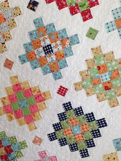 Lori Holt's new Great Granny Squared quilt.