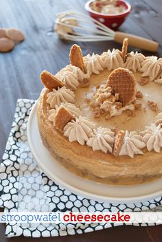 Cheesecake with Dutch stroopwafels